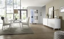 Obývací a jídelní nábytek TORINO_vitrina_sideboard_jídelní stůl 180 cm, umělohmotné nohy_obr.3