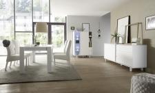 Obývací a jídelní nábytek TORINO_multikomoda_sideboard_jídelní stůl s lemem 180 cm, umělohmotné nohy_obr. 5
