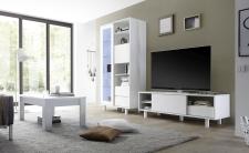 Obývací nábytek TORINO_vitrina_TV element_konf. stolek, umělohmotné nohy_obr. 42