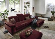 Sedací souprava TORONTO Lounge_sestava 2,5AL-LARmaxi_v látce Easy care dark red_obr. 1