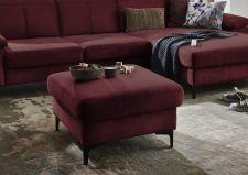 Sedací souprava TORONTO Lounge_taburet čtvercový_v látce Easy care dark red_detail_obr. 3