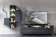 TV-lowboard TREND 10 D2 GG 30 + závěsné elementy 10 + 11 + 12 + nohy 99 03 00 99_čelní pohled_obr. 2