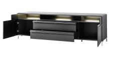 TV-lowboard TREND 10 D2 GG 30 + nohy 99 03 00 99_otevřený_obr. 9