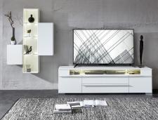 TV-lowboard TREND 10 D2 WW 30 + závěsné elementy 10 + 11 + 12_čelní pohled_obr. 2